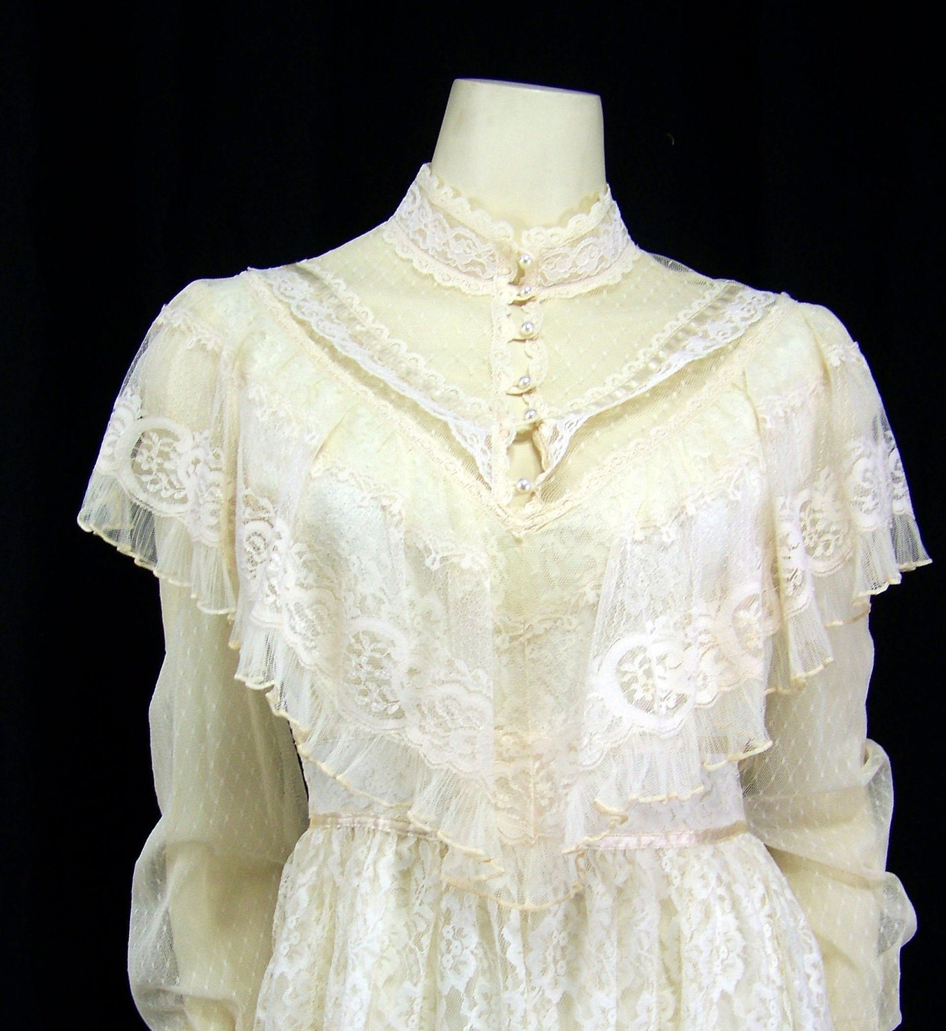 Vintage Gunne Sax 1970s Wedding Dress Tea By