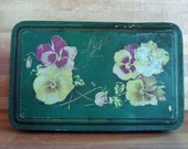 SALE Vintage Pansy Candy Tin from Loft New York