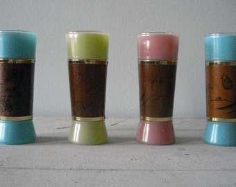 SALE Swinging 60's Hawaiian Drink Glasses