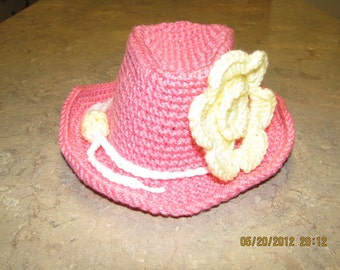 Cowboy Hat - girl - newborn/toddler size