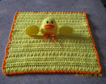 Rubber Ducky Cuddle Buddy Blanket - yellow