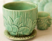 Vintage McCoy Pottery Planter in Gloss Turquoise by Beezus Complex