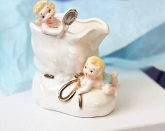 Vintage Napco Ceramics Japan Children's Planter, by Beezus Complex