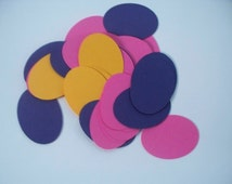 8 Die Cut Oval 4 inches - Choose Your Color