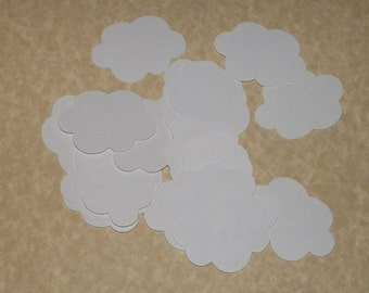 White Clouds Die Cuts - 2 inches - 27