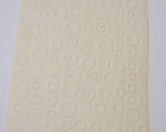 6 Circles and Dots Embossed Cardstock - choose your color