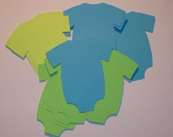 Baby Onesie Die Cuts 18 - 3 Inches - Choose your Color