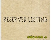 RESERVED LISTING for Mint