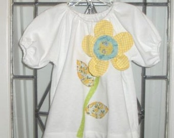 Spring Flower Peasant Top/ Size 4T