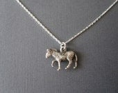 White Gold Zebra Necklace