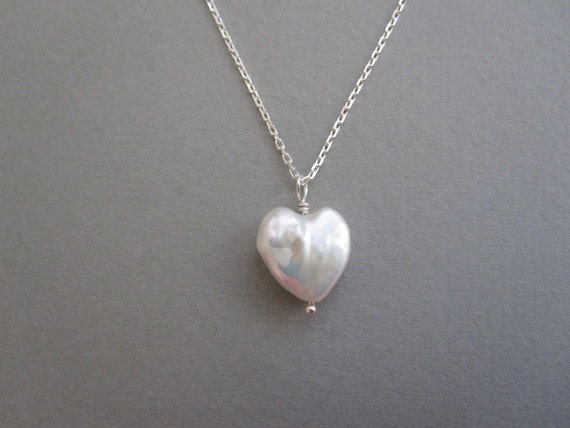 Heart Freshwater Pearl Necklace