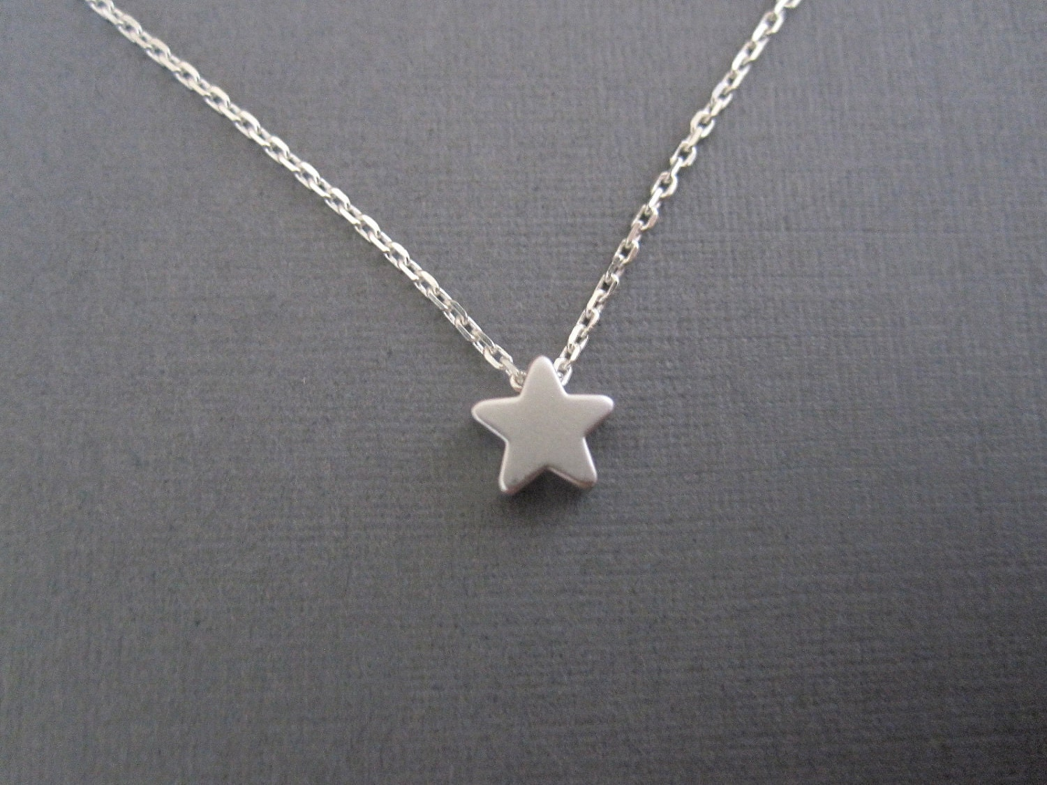 White Gold Star Necklace Www Proteckmachinery Com