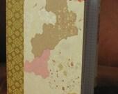 Handbound Cream/Rose/Gold Journal Graph Grid Quad Paper
