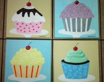 Sweet Treats Cupcake paintings