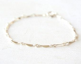 Reflection -  shimmering sterling silver everyday delicate bracelet