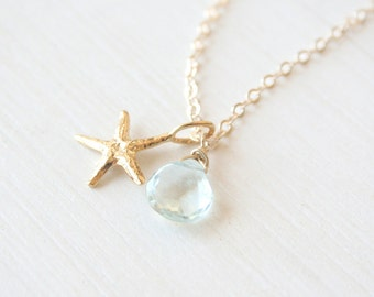 The Golden Sea - A simple everyday gold nautical necklace - on a 14K Gold Filled Chain