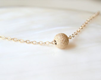 Star Gazer - A gold filled sparkling everyday delicate ball necklace - 14K gold filled chain