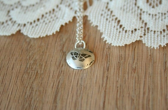 Tiny Butterfly Pendant Necklace - A sterling silver everyday delicate necklace