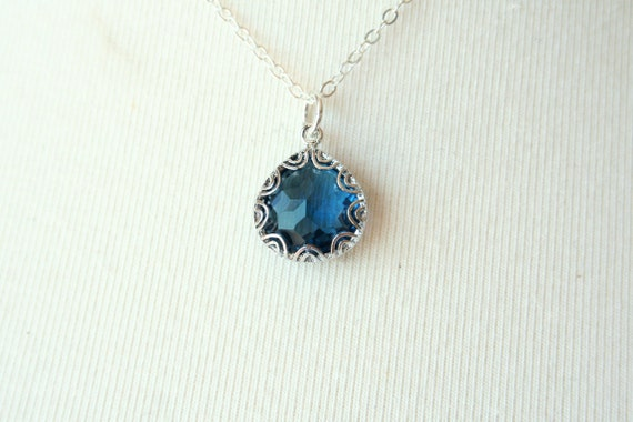 Midnight Blue Swirl Necklace