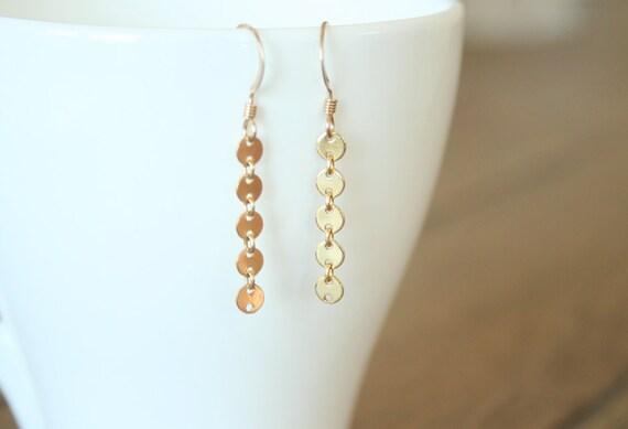 Twinkle - Shimmering Gold Filled Dangle Earrings