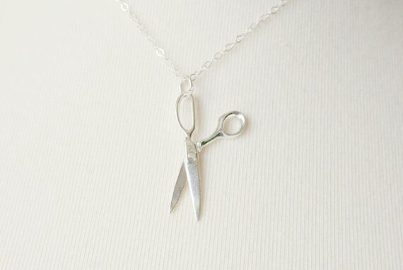 The Sterling Silver Scissors Necklace - simple everyday pendant jewelry