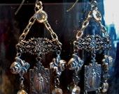 Rose Mary Chandelier Earrings
