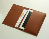 Brown Leather Cover Sleeve for iPad & iPad 2