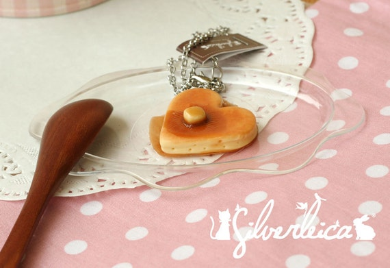 Love Pancake with Maple Syrup Necklace