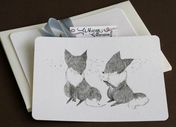 30% OFF SALE - I See Stars in Your Eyes Notecards Set of 5