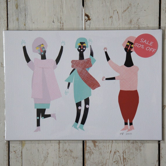 Half Price Dancing Girls Print Free UK Shipping.
