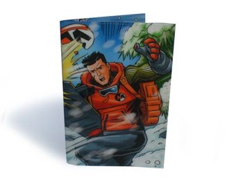 Action Man Passport Cover - Recycled Comic