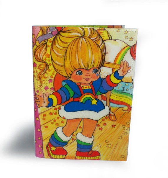 Rainbow Brite Book Cover - with A6 Notebook - Recycled Comic