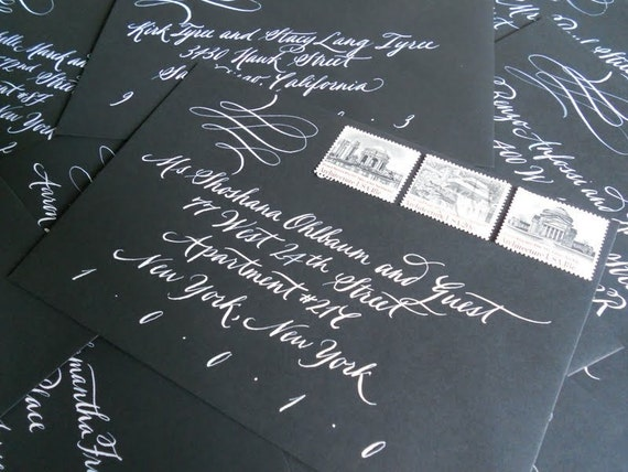 Wedding Calligraphy--Custom Listing for Tami