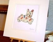 Baby Bunny Collage Original Artwork - Framed - 26 x 26 cm
