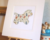 Baby Horse Collage - Original Artwork - Framed 12 x 12 Inches
