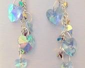 Crystal Heart Cluster Earrings