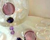 Earrings Shades of Purple