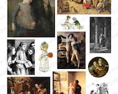 Vintage Children and Grandparents Digital Collage Sheet - Ephemera, Old, Photos, Girls, Boys, Art, Historical, Paintings, INSTANT DOWNLOAD