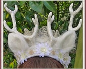 Antler and Lace Headdress