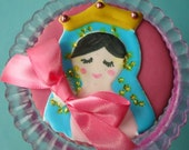 Little Virgin Mary -Virgencita cookies-hand decorated by the cookie couture on Etsy- One Dozen