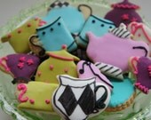Tea Party Cookies -Mat Hatter tea party cookies-Unbirthday tea set cookies-Alice in wonderland tea set-20  pieces