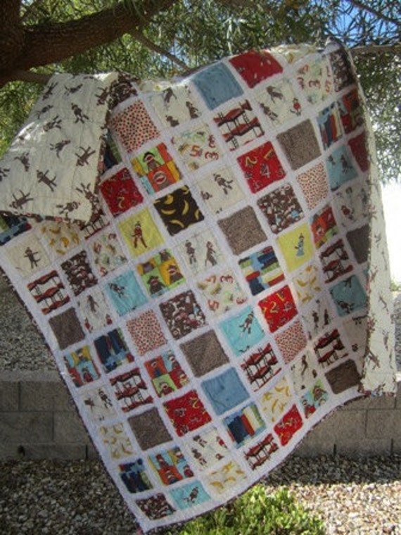 Sock Monkey..........A Fray Edge Quilt 40X48