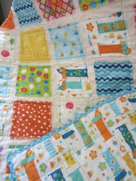 Hot Diggity Dog............A Fray Edge Quilt