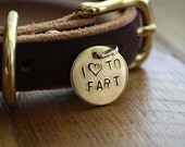 I Heart to Fart Medium Flare Dog Tag