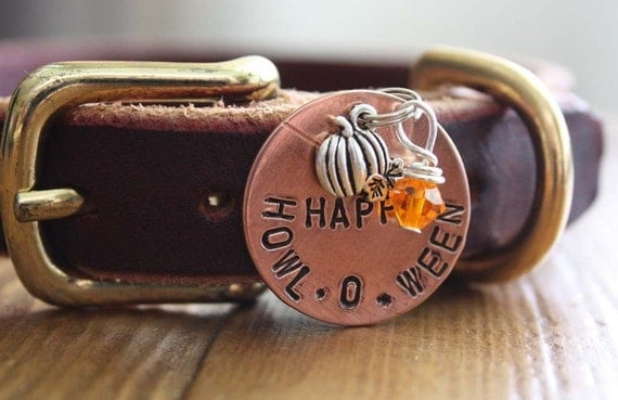 Halloween Happy Howl-O-Ween  Flair Dog Tag