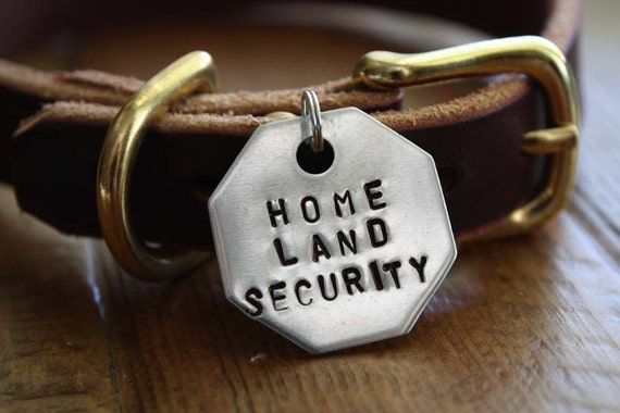 Home Land Security Large Flair Dog Tag
