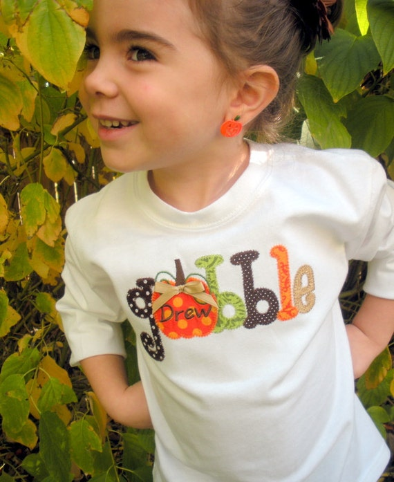 Get Your Gobble On Thanksgiving Personalized Long or Short Sleeve Shirt