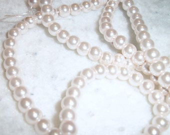 Light Pink Glass Pearls 6mm