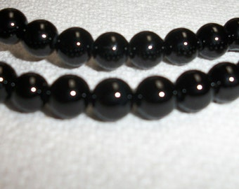 6mm Black Onyx Beads