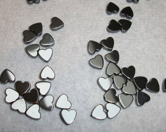 Hemalyke, 6x6mm heart. Sold per 15pcs